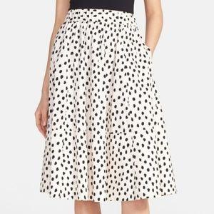 Kate Spade Blush Leopard Dot Full Midi Skirt 4